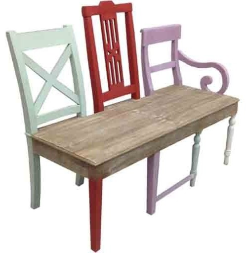 Coast To Coast Three Chair Back Bench 54737 Traditional Indoor Benches Salt Lake City