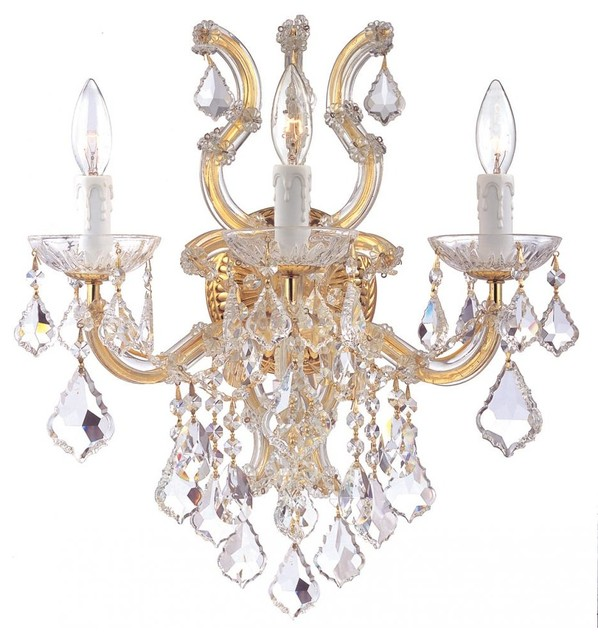 Maria Theresa Three Light Gold Wall Light - Traditional - Wall Sconces - by We Got Lites