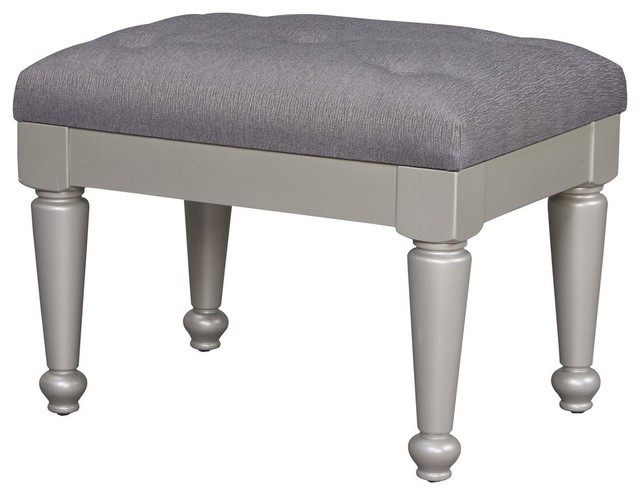 Pleasant Ashley Coralayne Upholstered Stool Silver Gamerscity Chair Design For Home Gamerscityorg