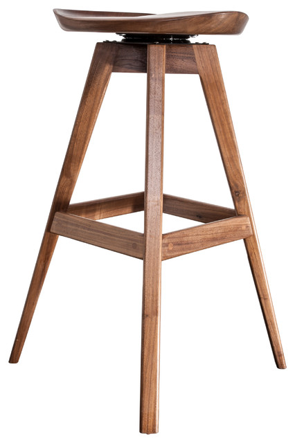 Magnificent Walnut Tractor Seat Bar Stool Counter Height Lamtechconsult Wood Chair Design Ideas Lamtechconsultcom