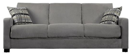 Exceptionnel Microfiber Convertible Couch Futon Sleeper Sofa, Sage Green