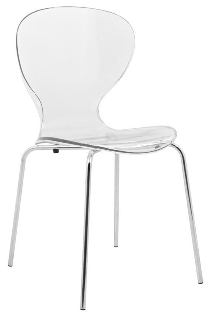 oyster side chair clear single chair