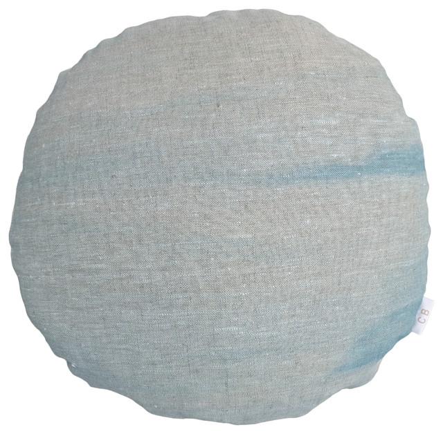Round Blue Decorative Pillows : Archipelago Round Throw Pillow Cover - Scandinavian - Decorative Pillows - by Carina Bjorck