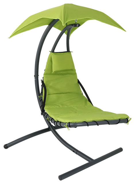 Lounger Chair Floating Chaise Lounger Swing Chair w//Canopy Umbrella-Choose Color