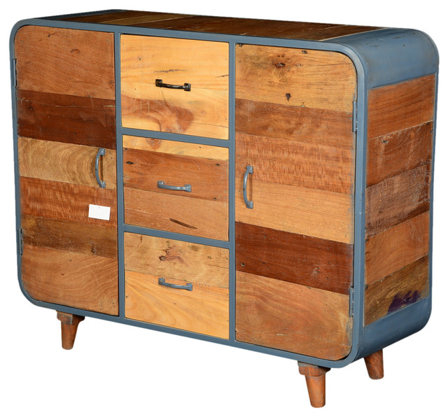 Sierra Living Concepts - Reclaimed Wood and Iron Industrial 3 Drawer Buffet Cabinet & Reviews ...
