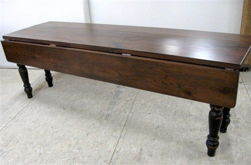 Drop Leaf Table Made From Reclaimed Old Oak Farmhouse Dining Tables