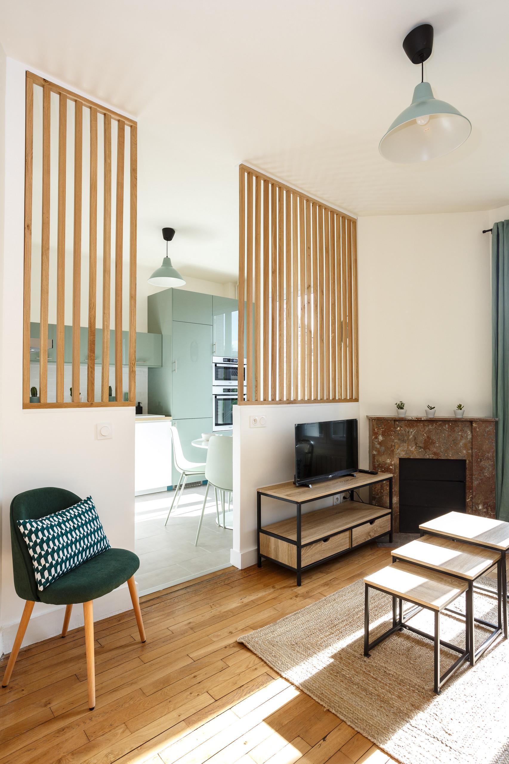 Création d'un claustra pour séparer cuisine et salon