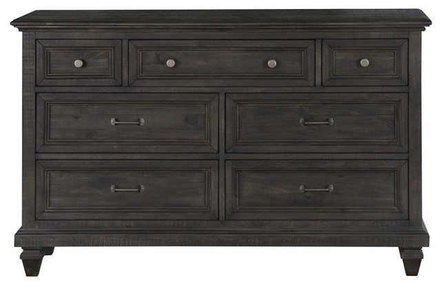 Magnussen Calistoga 7 Drawer Dresser, Weathered Charcoal.
