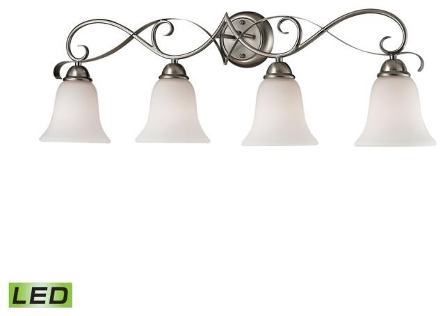 Brighton 4 Light LED Vanity In Brushed Nickel