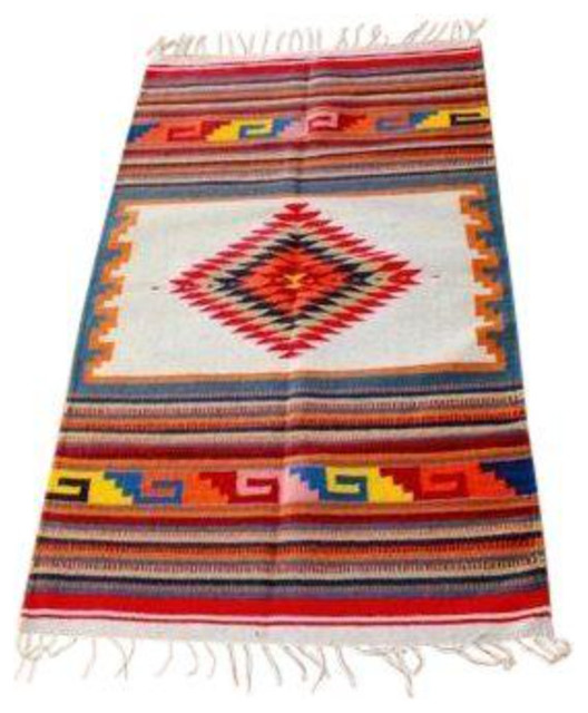Traditional Serape-Style Rug