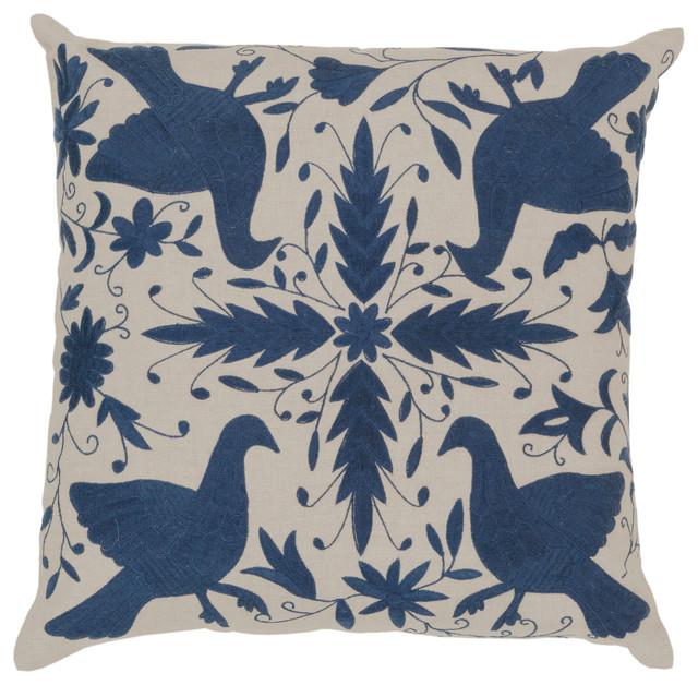 Otomi Pillow 18x18x4, Polyester Fill