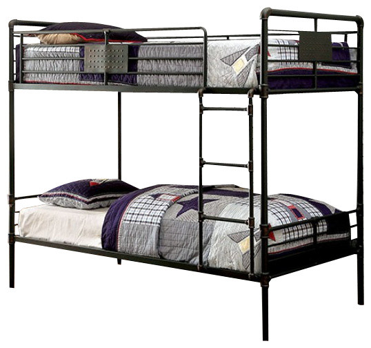Reston Metal Bunk Bed Industrial Bunk Beds by Totally Kids