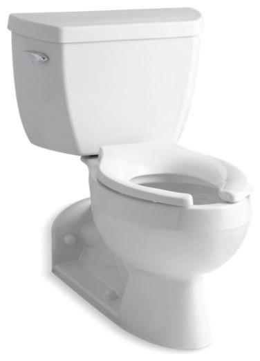 Magnificent Kohler Barrington 2 Piece Elongated 1 0 Gpf Toilet W Left Hand Lever White Beatyapartments Chair Design Images Beatyapartmentscom