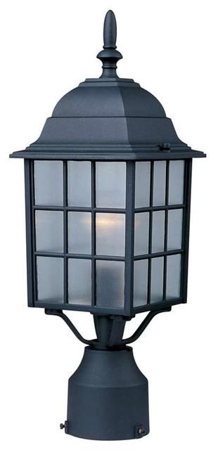 Maxim North Church 1-Light Outdoor Pole/Post Lantern Black - 1052BK