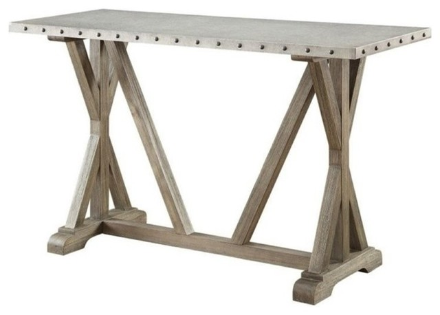Bowery Hill Rustic Console Table, Driftwood.
