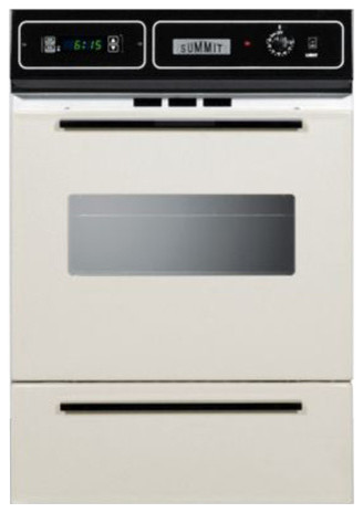 Summit Bisque Gas Wall Oven With Electronic Ignition.