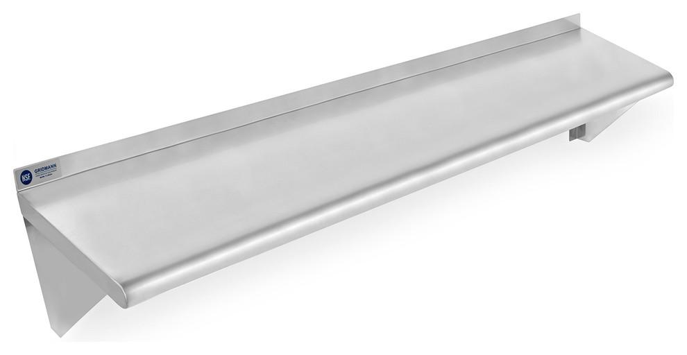 nsf stainless steel 12 x 48 mercial kitchen wall shelf restaurant shelving prvw vr
