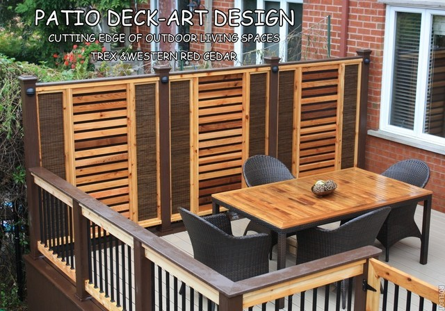 Patio Deck-Art Designs®TREX contemporary-porch