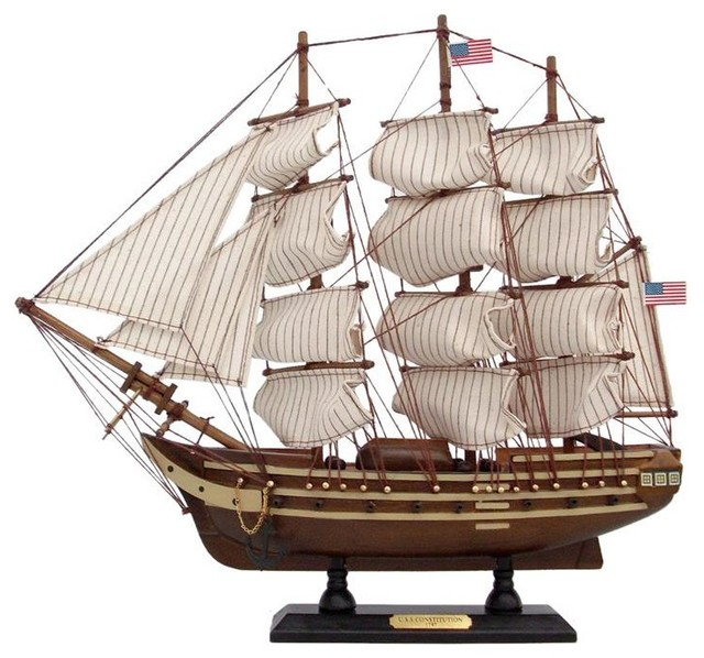 Wooden USS Constitution Tall Model Ship 15""