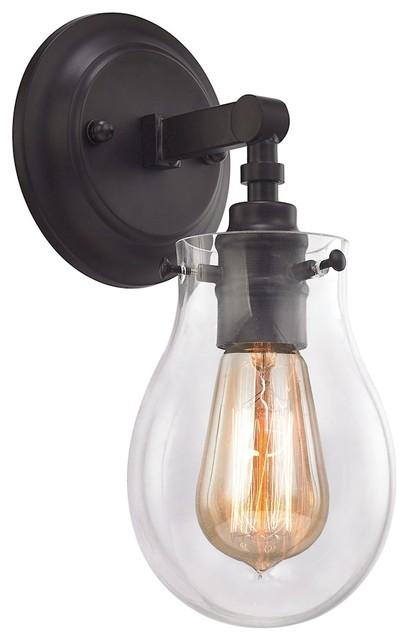 Elk Jaelyn 1 Light Vanity In Oil Rubbed Bronze Industrial Bathroom Vanity Lighting By 1stoplighting