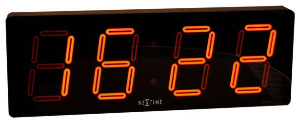 Digital Wall Clock, Plastic, LED, AC Adaptor