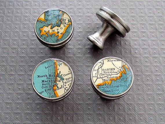 Map Drawer Pulls Handles Knobs, Brushed Nickel by Sherry ...