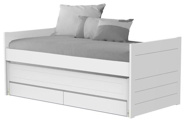 One Single Trundle Bed, With Drawers