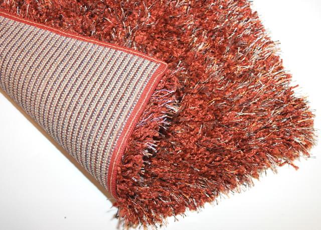 "Kane Carpet Tempera Shag Cinnabar Ultra Soft Area Rug 1.5"" Thick Shag"