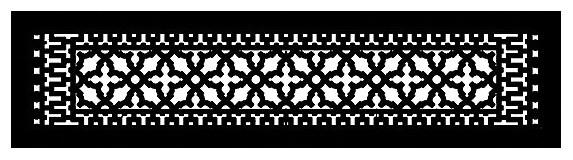 "Aluminum Scroll Pattern Grille, Black, 6""x30"""