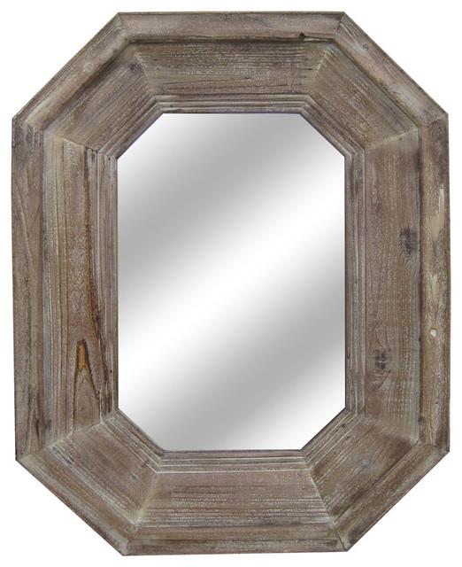 Sawyer Distressed Finish Wooden Wall Mirror.