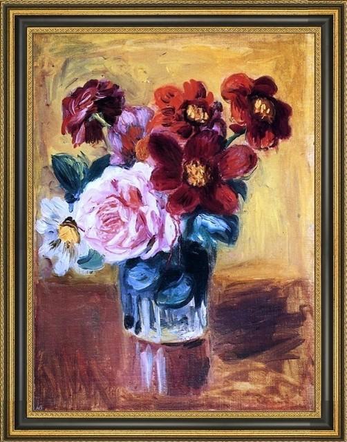 Pierre Auguste Renoir Art 18x24 CANVAS PRINT Spring Bouquet