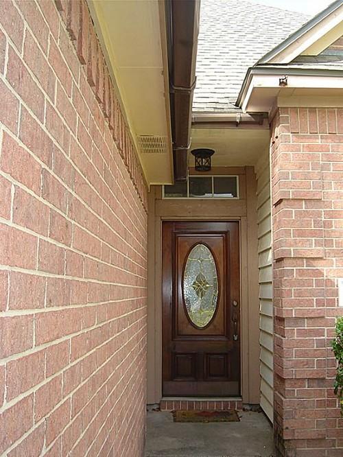 Trim Siding And Garage Color For Light Red Brick House