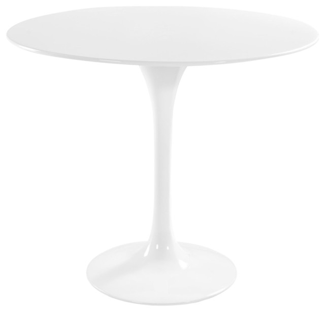 Modern Contemporary Kitchen  Fiberglass Dining Table White