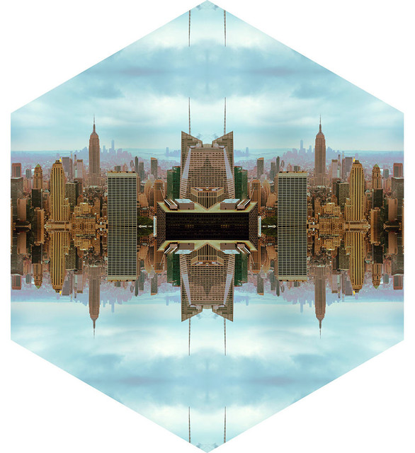 Conspicuous design new york reflections nature themed for Sticker mural new york