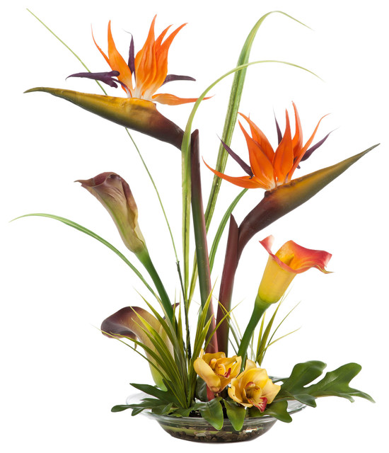 artificial flower arrangements for sale australia melbourne bird paradise calla lily silk centerpiece tropical
