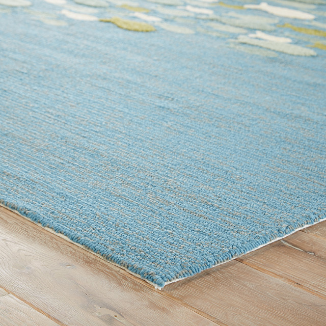 Dog Themed Outdoor Rugs: Jaipur Living Go Fish Indoor/Outdoor Animal Blue/Green