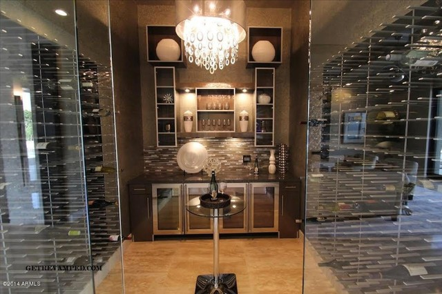 Luxury Glass Wine Cellar In Paradise Valley, AZ   Featured In Homes Of The  Rich