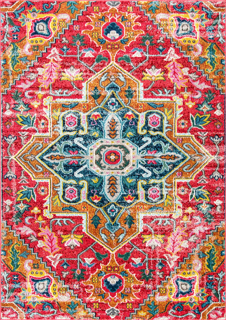 Nuloom Traditional Peacock Floral Medallion Area Rug