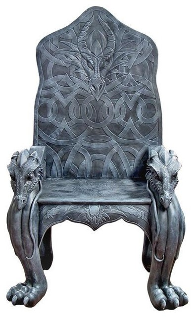 Magnificent Celtic Dragon Throne Bralicious Painted Fabric Chair Ideas Braliciousco