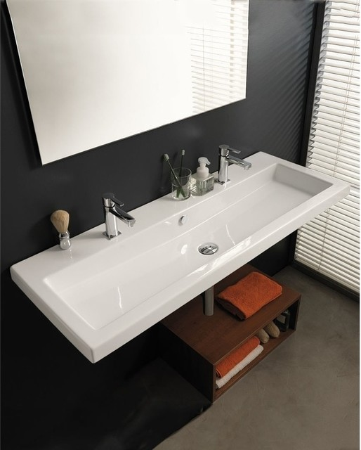 large square sinktecla - modern - bathroom sinks