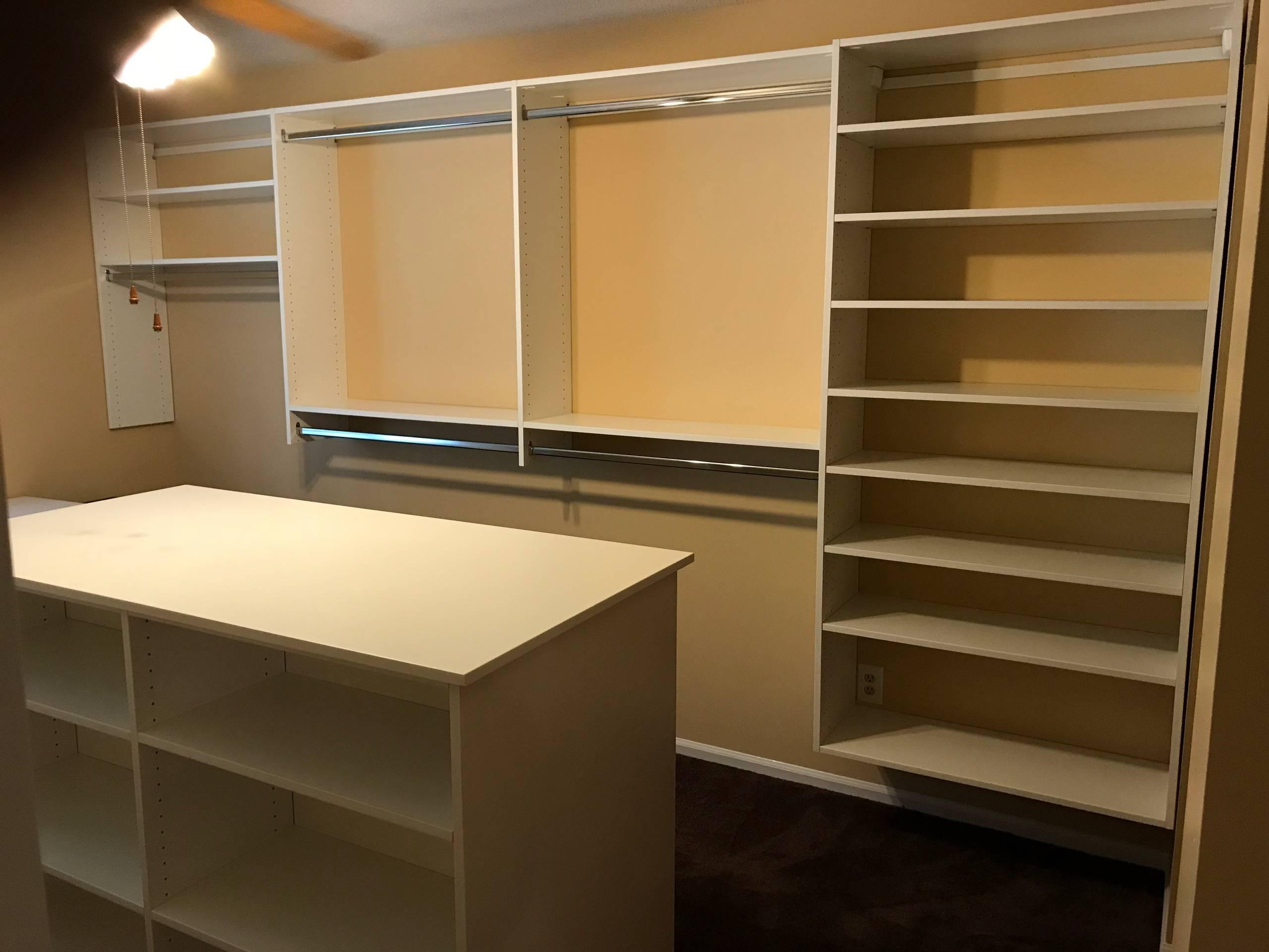 Walk-in closet with Island & desk - Taylors, SC