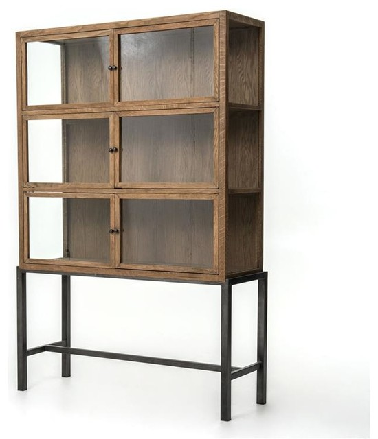 Four Hands Spencer Curio Cabinet - Rustic - Storage Cabinets - by ...