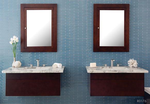 Caspian Blue Light Contemporary Bathroom