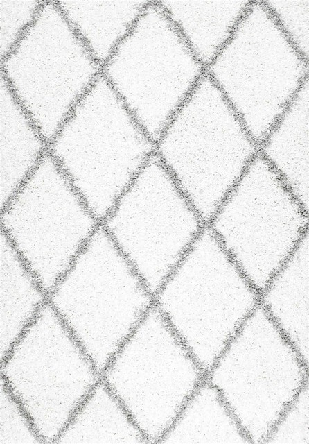 Shanna Rug, White, 8'x10' contemporary-area-rugs