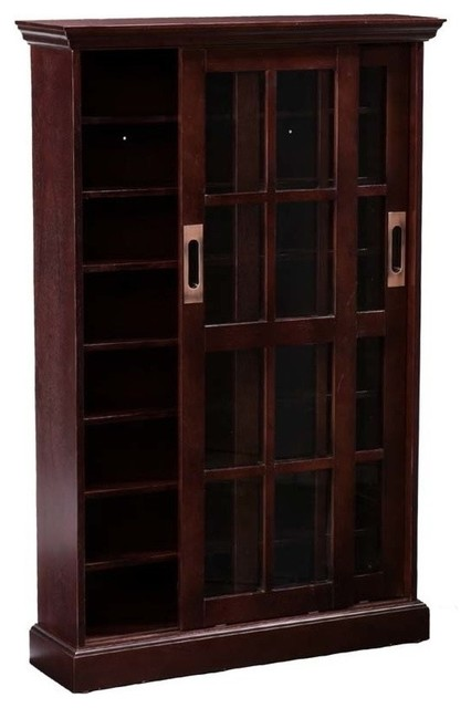 Sliding Door Media Cabinet Traditional Bookcases By Hedgeapple