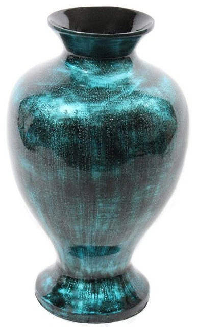 Teal Lacquer Bamboo Vase Sku En30492 View In Your