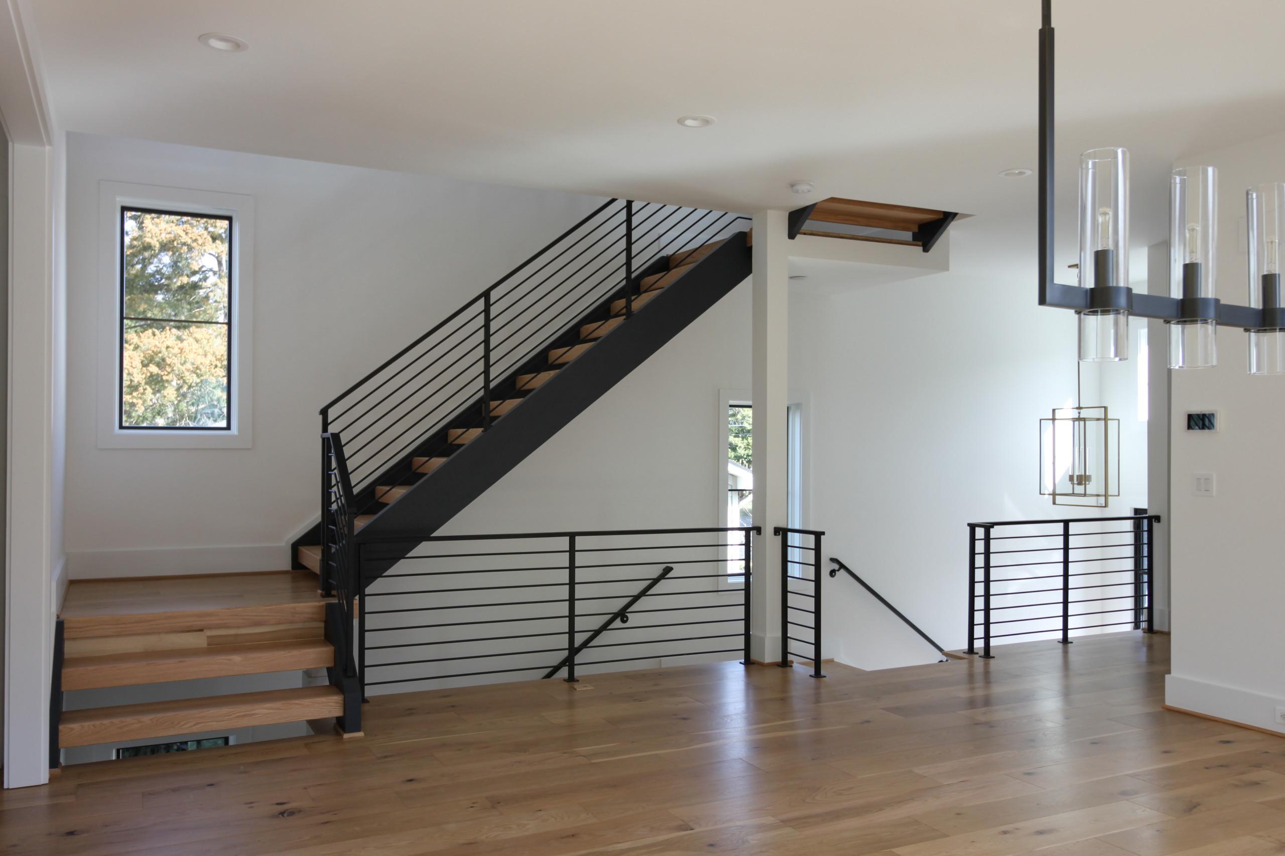 85_Sleek Three-Quarter Turn Multilevel-Staircase, McLean VA 22101