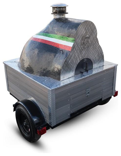 """Carrello Pizza Oven Trailer, 28"""" Built on A Garzoni-280"""