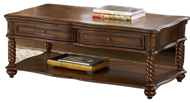 Attractive Homelegance Trammel 3 Piece Coffee Table Set With Working Drawers  Traditional Coffee Table