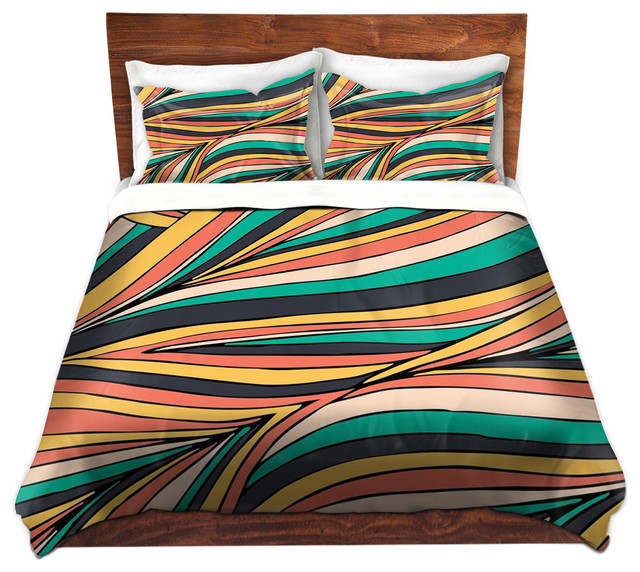 DiaNoche Duvet Covers Twill by Pom Graphic Design - Retro Movement ... : retro quilt covers - Adamdwight.com